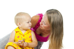 Mother with a baby Royalty Free Stock Photos