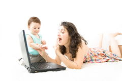 Mother and baby. Royalty Free Stock Images