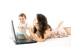 Mother and baby. Royalty Free Stock Photo