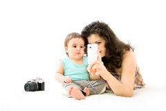 Baby phone Stock Image