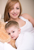 Mother and baby. Mother playing with small baby Royalty Free Stock Image