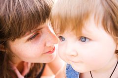 Mother and baby Royalty Free Stock Photos