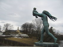 Mother and Baby. Sculpture in Vigeland Park - Oslo, Norway stock photos
