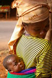 Mother with baby in Africa Royalty Free Stock Photos