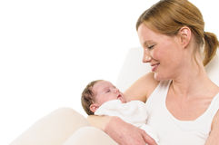 Mother with baby in the arm Royalty Free Stock Photography