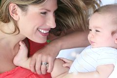 Mother and Baby Boy Royalty Free Stock Photos