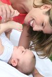 Mother and Baby Boy Stock Photos