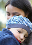 Mother and Baby Boy Royalty Free Stock Photography