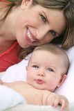 Mother and Baby Boy Stock Images