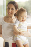 Mother and baby boy. Happy mother and baby boy Stock Photography