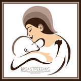 Mother with a baby (breastfeeding) 2 Royalty Free Stock Image