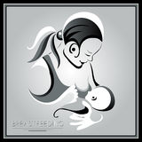 Mother with a baby (breastfeeding) 30 Royalty Free Stock Photography