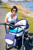 Mother and baby buggy Royalty Free Stock Photo