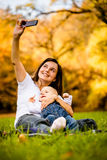 Mother and baby - capturing moments Stock Images