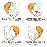 Mother and Baby Concept Logo Royalty Free Stock Images