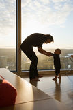 Mother and baby dancing Stock Photo