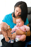 Mother with baby daughter Stock Photos