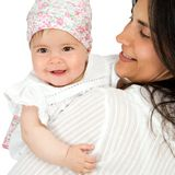 Mother with baby daughter. Royalty Free Stock Images