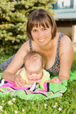 Mother and baby daughter Royalty Free Stock Photo