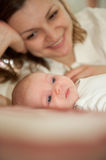 Mother with baby daughter Royalty Free Stock Images