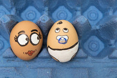 Mother and baby egg face stock photo