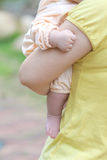 Mother and baby embrace each other Royalty Free Stock Photo