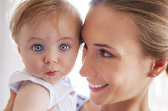 Mother baby eyes Stock Image