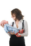 Mother with baby girl Royalty Free Stock Image