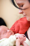 Mother with baby girl Stock Photos