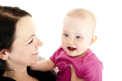 Mother with baby girl Stock Images