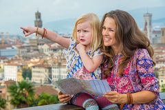Mother and baby girl in florence, italy Stock Photos
