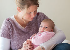 Mother and baby. Girl interacting royalty free stock photo