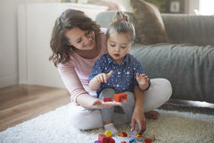 Mother with baby girl Stock Photography