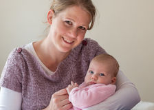 Mother and baby. Girl portrait royalty free stock image