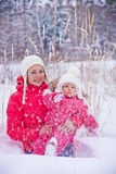 Mother and baby girl portrait royalty free stock images
