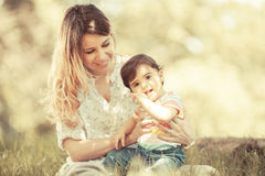 Mother and baby girl Royalty Free Stock Photography