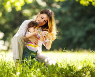 Mother and baby girl Stock Photography