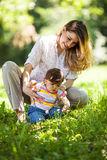 Mother and baby girl Stock Photos