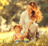 Mother and baby girl Royalty Free Stock Image