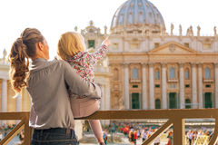 Mother and baby girl in vatican city state Stock Photo