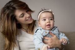 Mother and a baby girl Royalty Free Stock Images