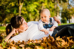 Mother and baby - happy life Stock Images