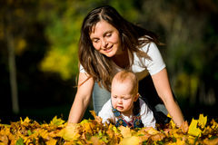 Mother and baby - happy life Stock Photography