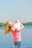 Mother and baby having fun Royalty Free Stock Image