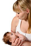 Mother and baby in her arms Stock Photo