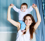 Mother and  baby at home Stock Photography