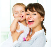 Mother and baby at home Royalty Free Stock Photography