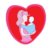 Mother and baby icon Royalty Free Stock Photos