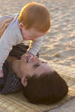 Mother and baby interaction Royalty Free Stock Photos