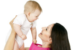 Mother with baby isolated Royalty Free Stock Image